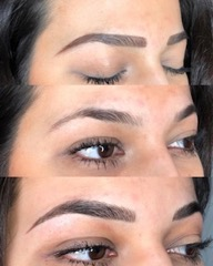For density and fullness. - Photo: Client brow fill in, brow with no fill in, after MicrobladingService: Microblading and Shading