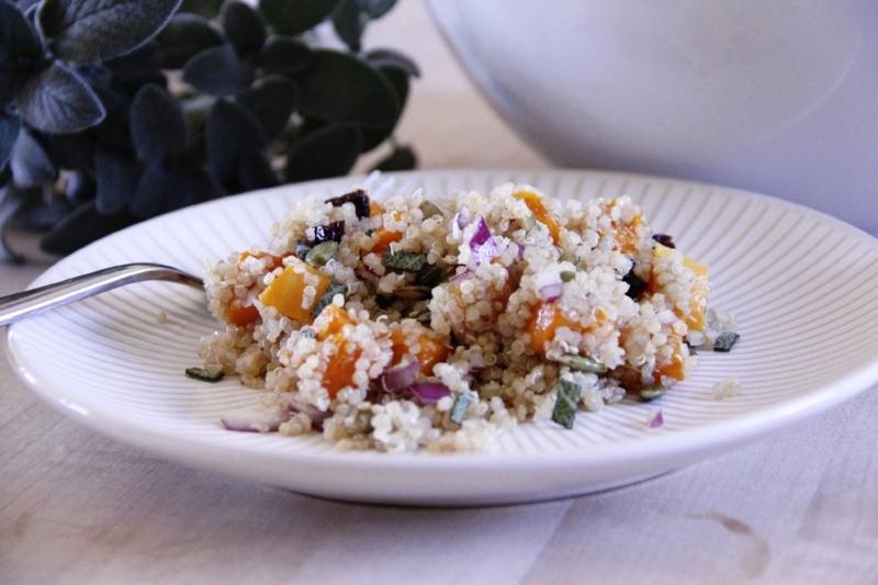 Butternut Squash Quinoa Salad Closeup