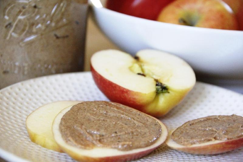 almond-butter-apples