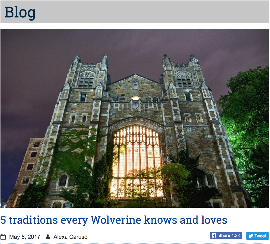 - Founded in 1817, the University of Michigan has a long and colorful history. And throughout those 200 years students have established many traditions... read more