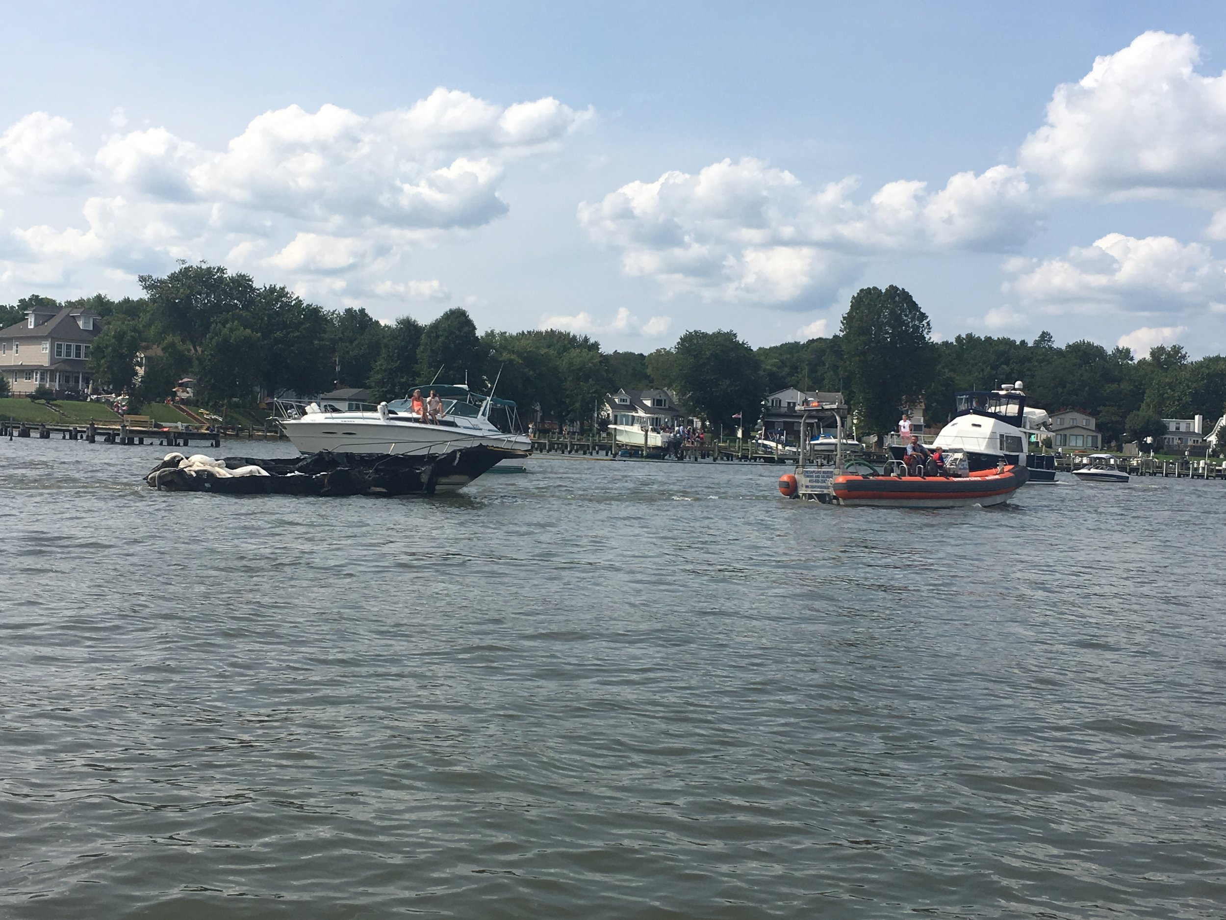 Baltimore Yacht Club Boat Fire