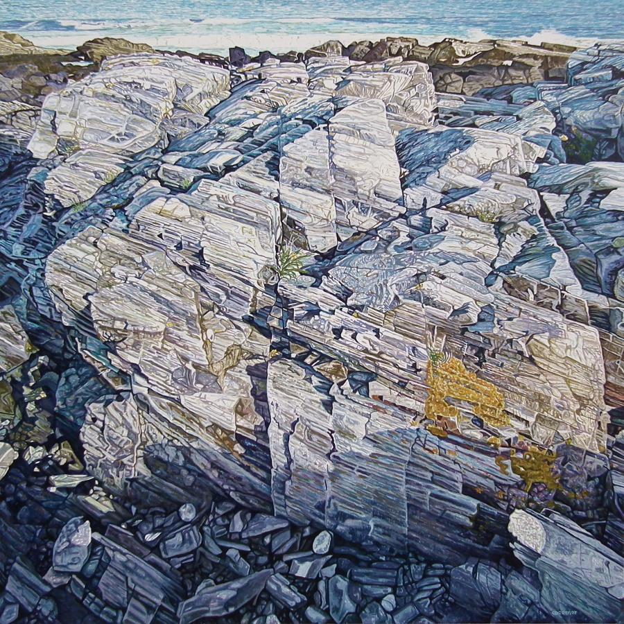 Coastal Waters No.7, Acrylic On Canvas, 48 x 48 inch, 2017