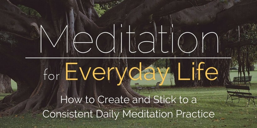 Meditation for Everyday Life Courses Page Header