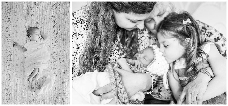 Toronto Newborn Photographer Black and White