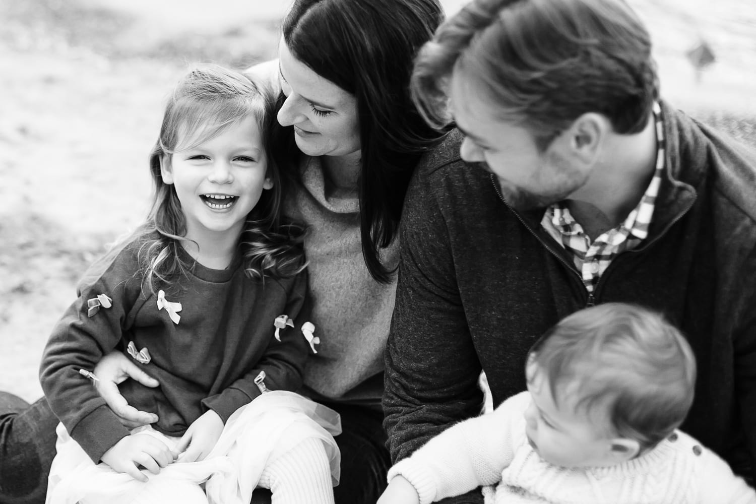 Toronto's best family photographer natural candid black and white photograph
