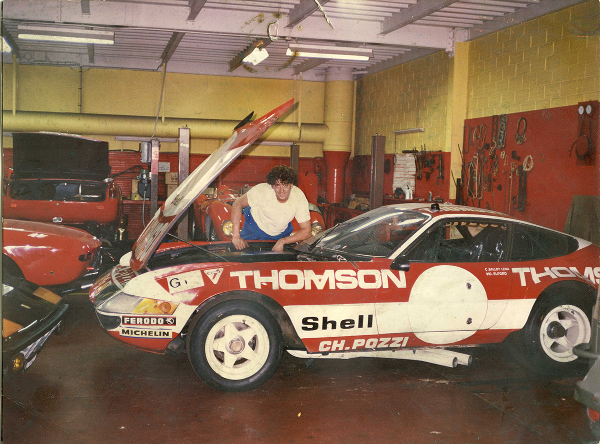 Bernard Chevallier chez Verbotini sur un 365 GTB4 Daytona, 1996