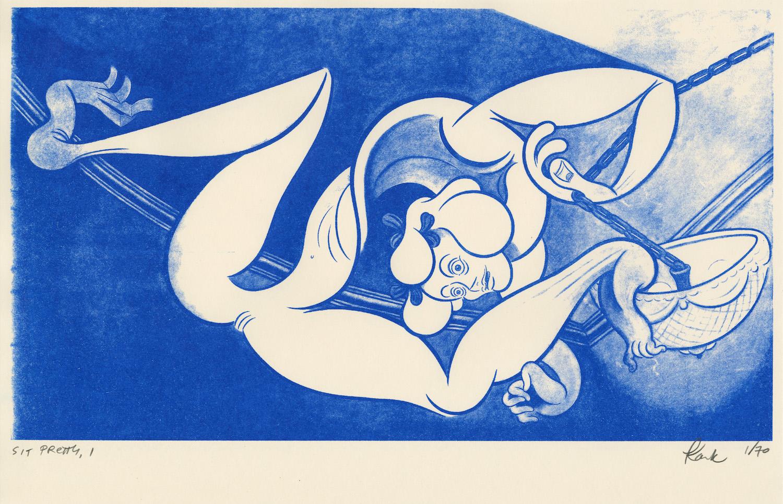 Koak ,  Sit Pretty (1) , 2018, risograph print, 11 x 17 inches, 28 x 43 cm, Edition of 70, $50