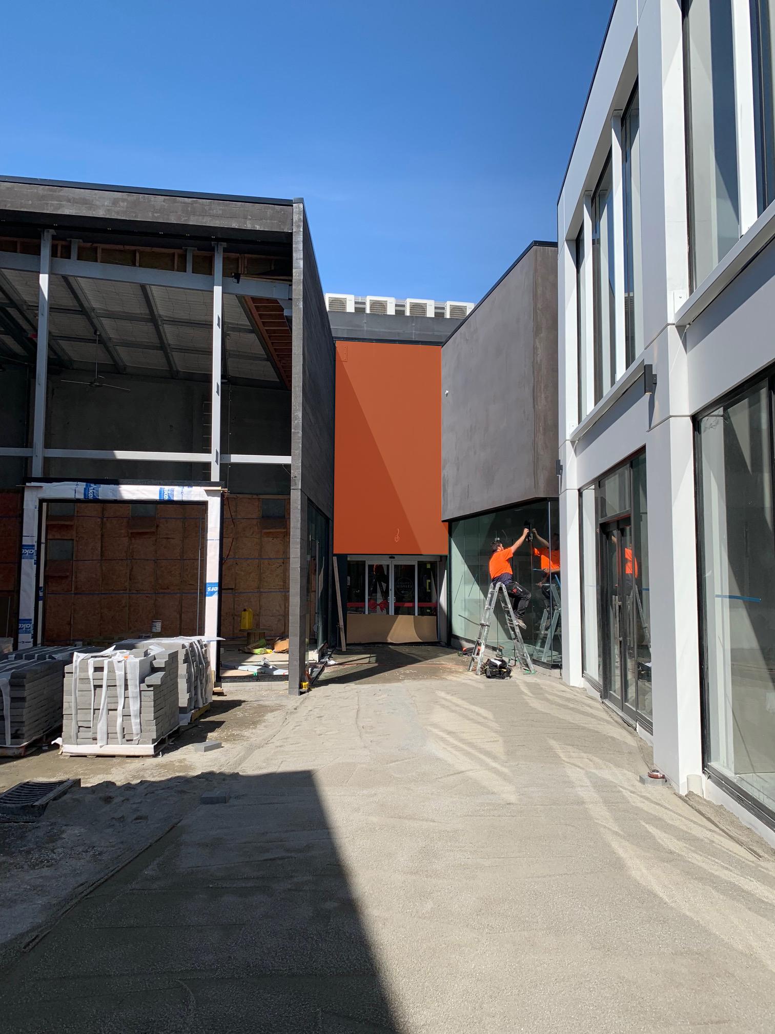 Orange area denotes approximate art space area