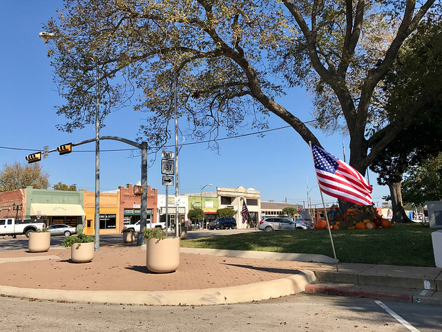 Courthouse square in Athens, TX