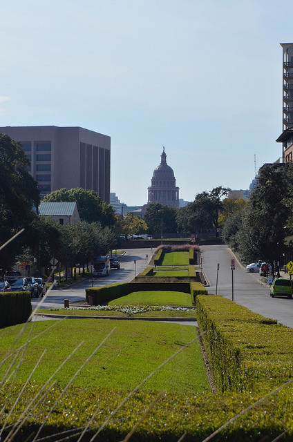 The Capitol seen from the UT campus. Austin, TX