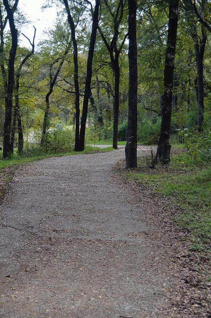 Pathway in Pease District Park, Austin, TX
