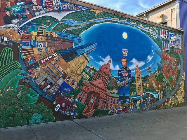 More beautiful art on UT campus.