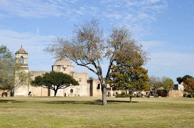 View of the Church from the outer perimeter.