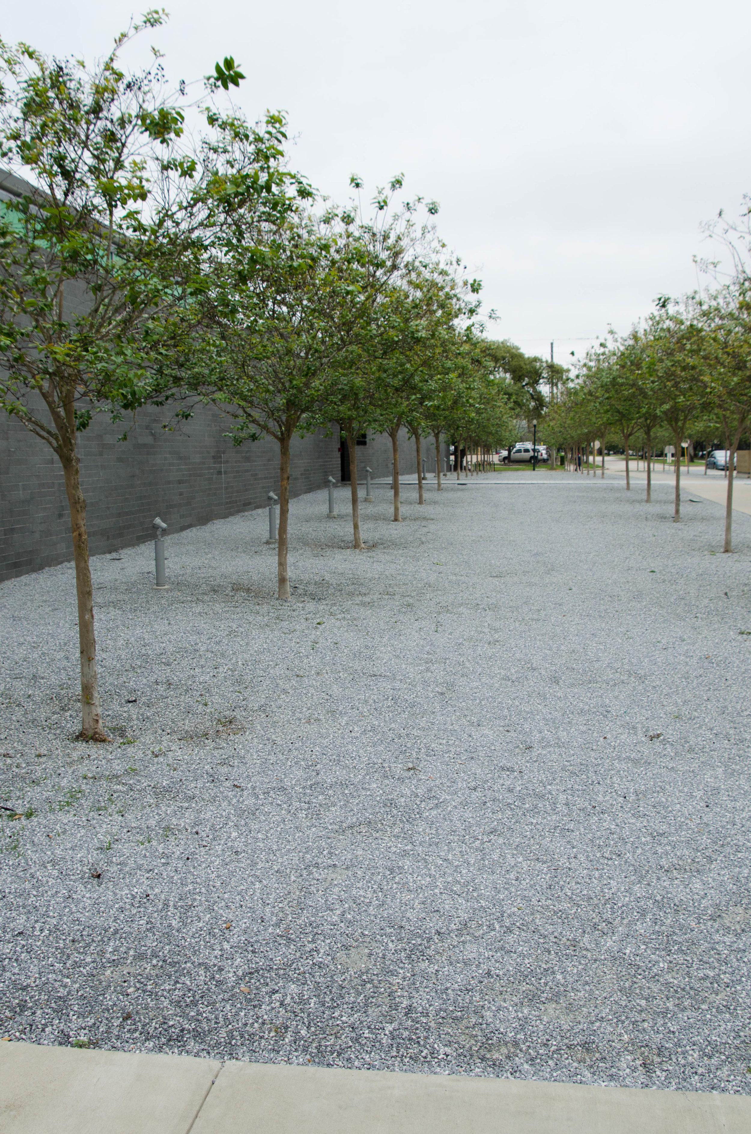 Entrance area of the McGovern Centennial Gardens