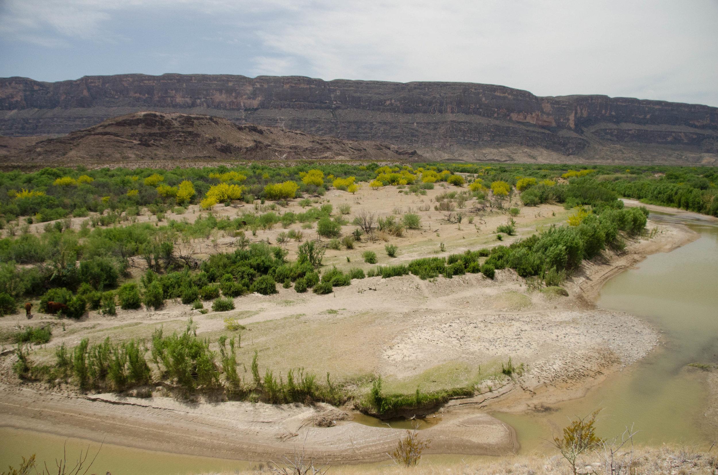 The Rio Grande River and Mexico