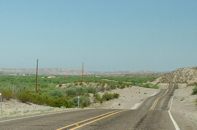 Leaving Big Bend Ranch State Park and nearing Presidio