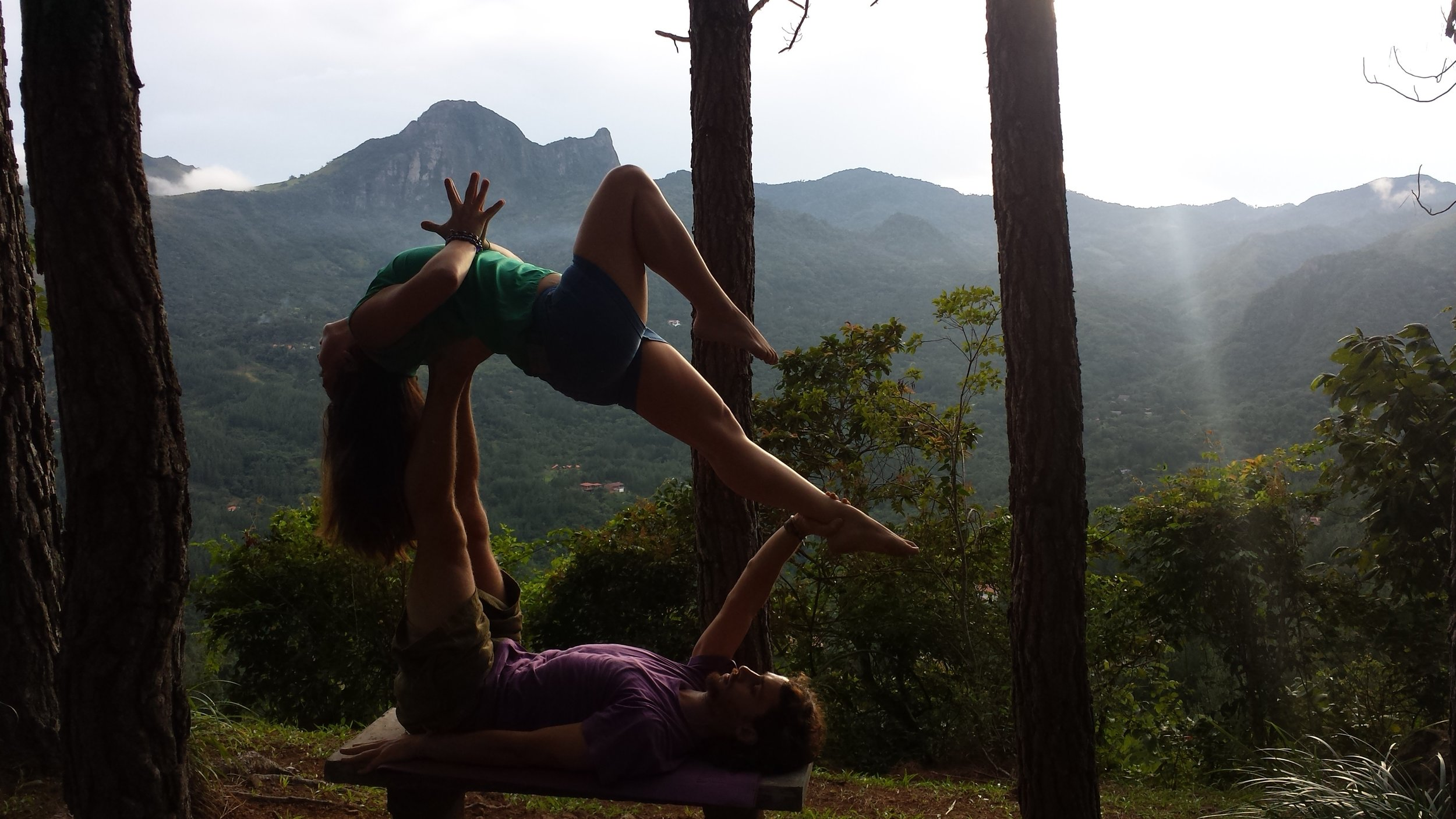 AcroYoga in the Woods