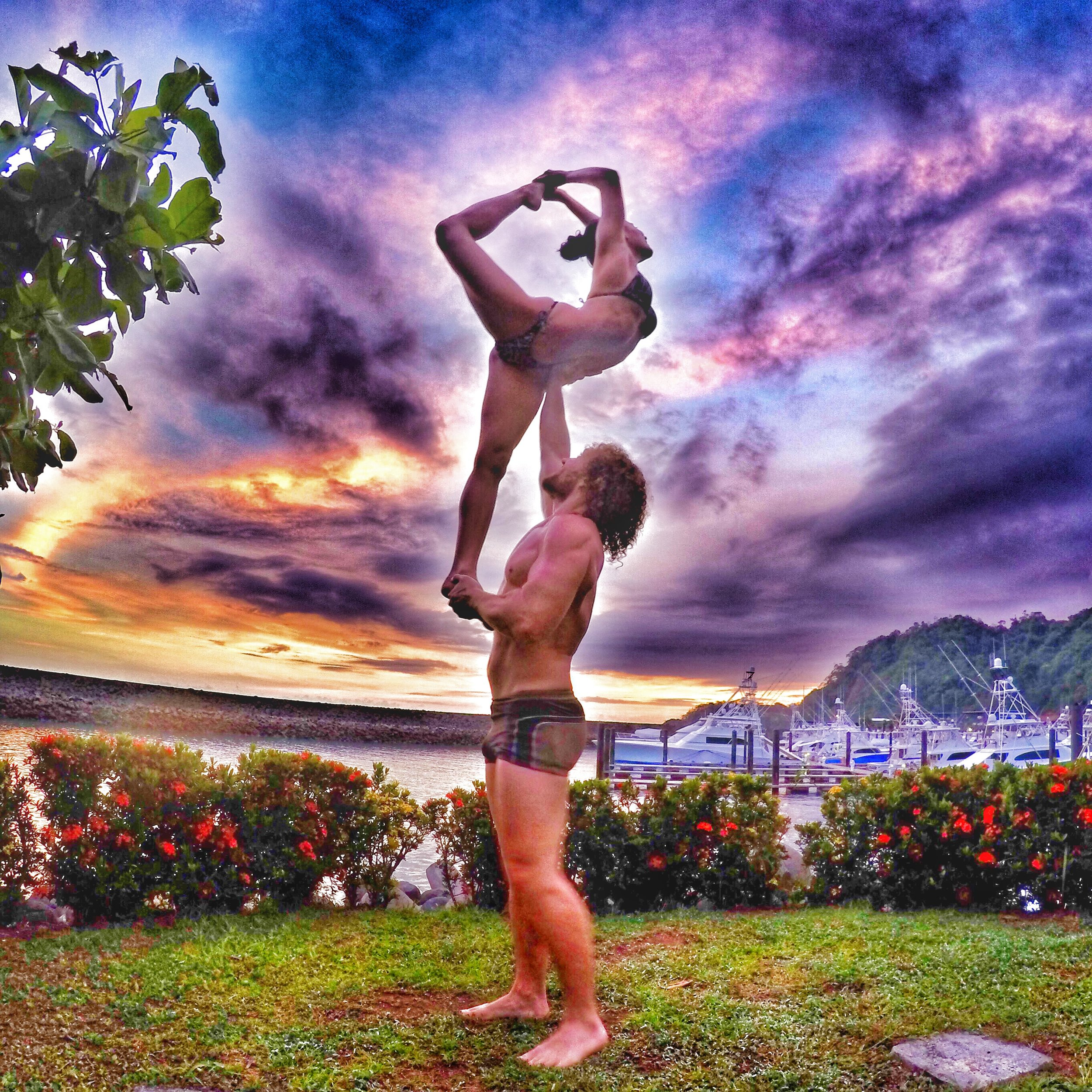 AcroYoga in the Gardens