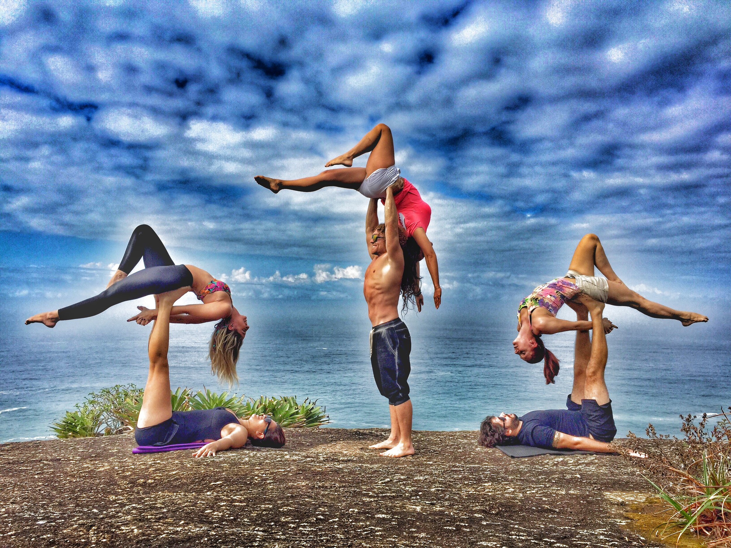AcroYoga by the Sea