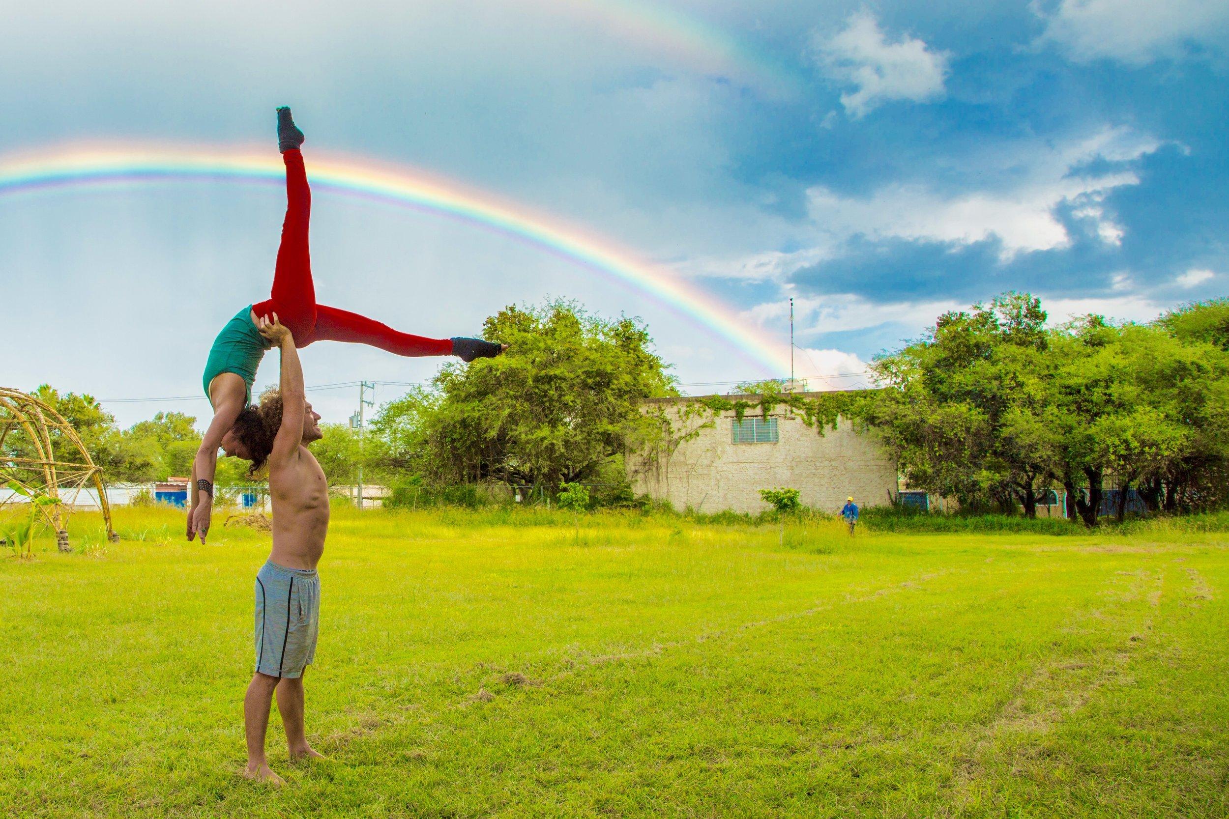 AcroYoga and Rainbows 2
