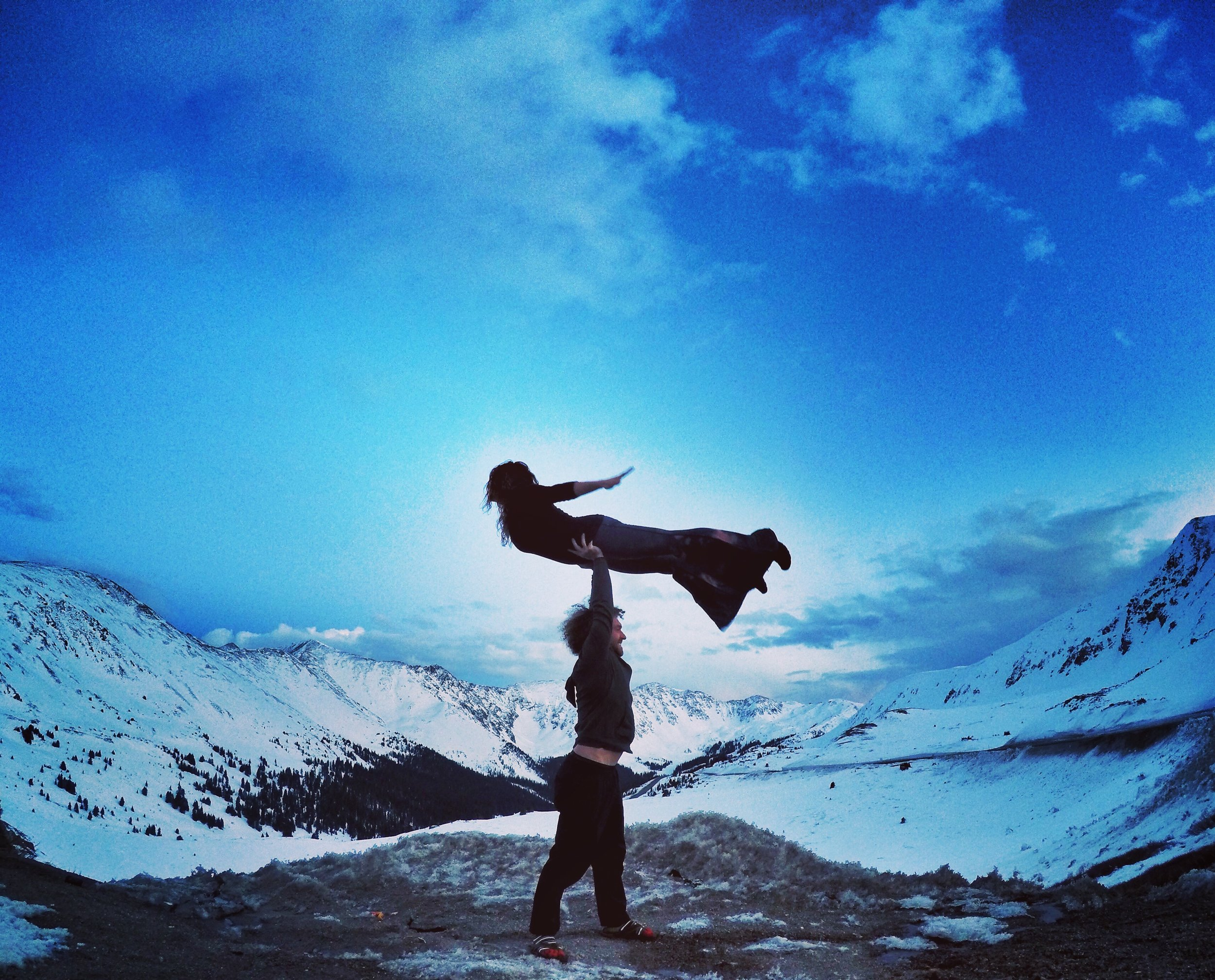 AcroYoga by the Snow