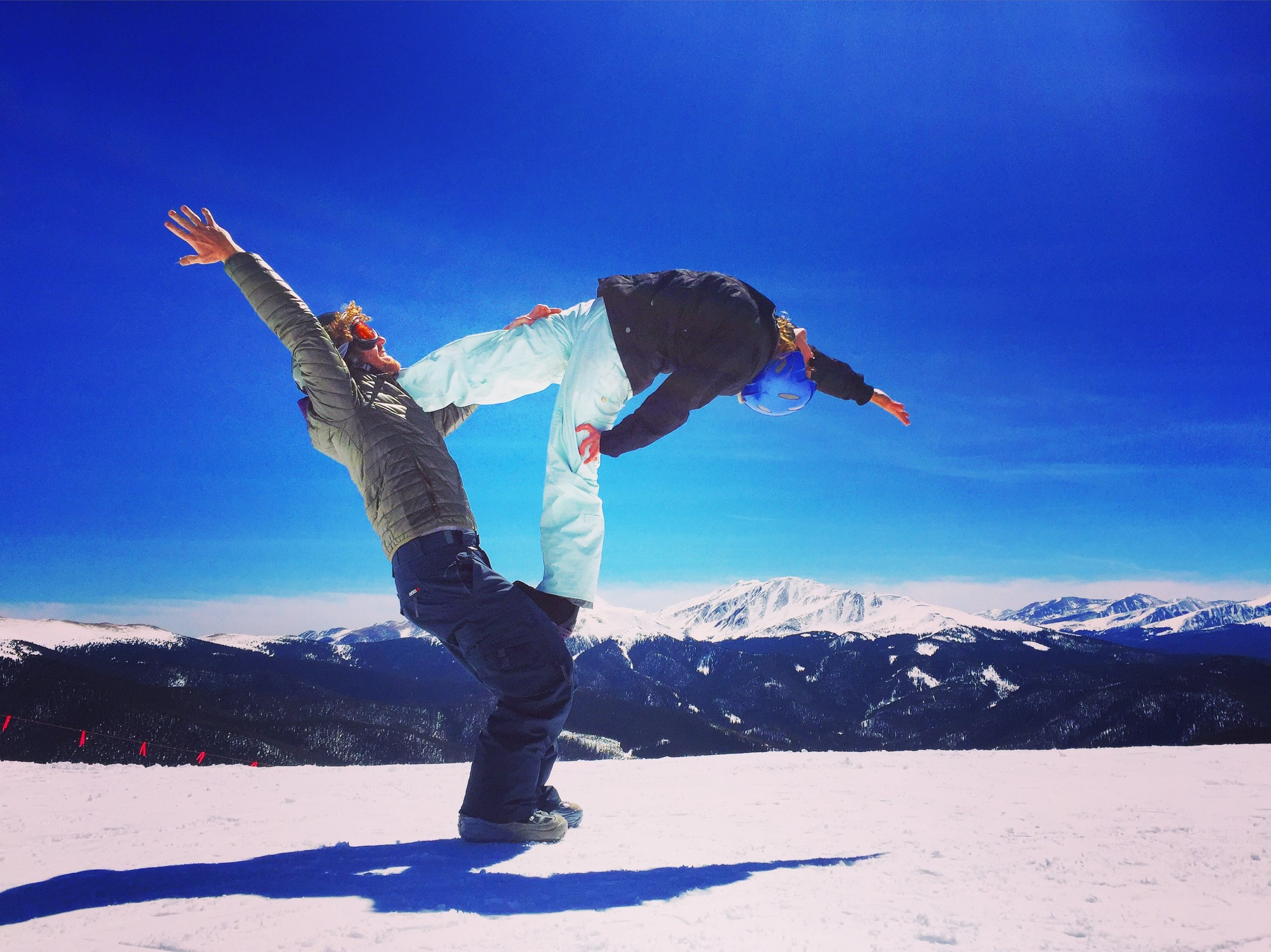 AcroYoga in the Snow