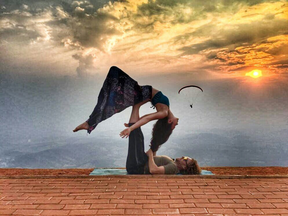 AcroYoga and the Sky