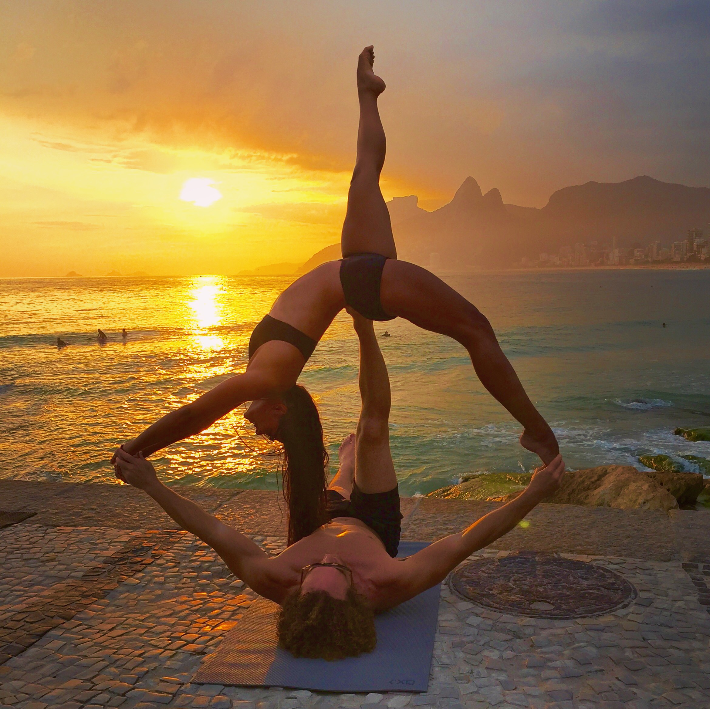 AcroYoga and Sunsets