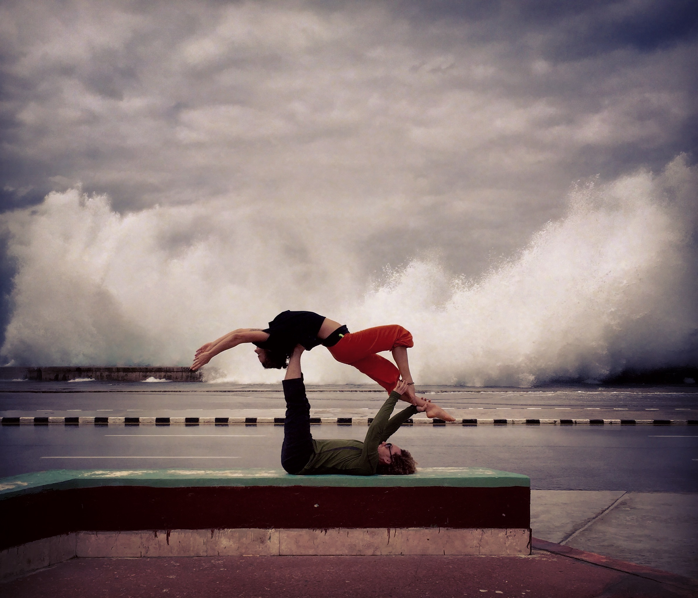 AcroYoga and Waves