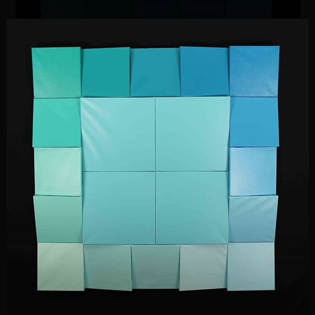 This is one of my favorite works because if it's simplicity and because of its perspective.  It's called Color Blind.  I have a friend who is blue/green deficient; to him these colors are distinquishable because of the canvas seams and tilts. For me this highlights the fact that the world literally looks different to all of us.  If seeing is believing and we all see different things then we all believe different things and that means truth and reality are fluid.  Communication is the only way to create a shared common perspective in the world.  It's a simple use of color, but not a simple perspective on the nature of truth.  #colorblind #aliceabsolutely #sharedreality #perspective #natureoftruth #truth #reality #whatisreallife #abstractemotionalism #abstractexpressionism #philosophy #philosophyinart