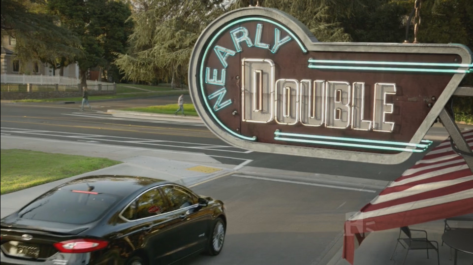 Modeled Letters, and Set Up Shot Lighting for Sign, Awning, and Patio Furniture.