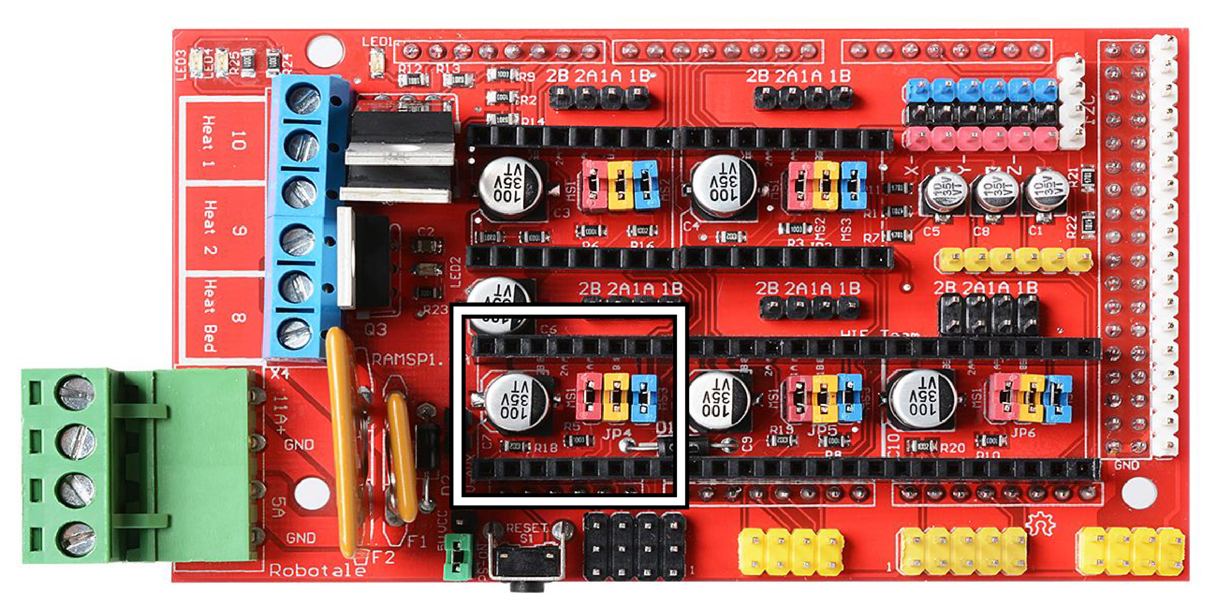 Ramps 1.4 - 3D Printer Controller Board - More Info Here
