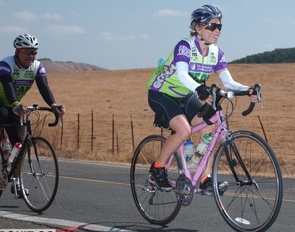 She completed the Marin Metric Century ride, raising money for the Leukemia and Lymphoma Society.