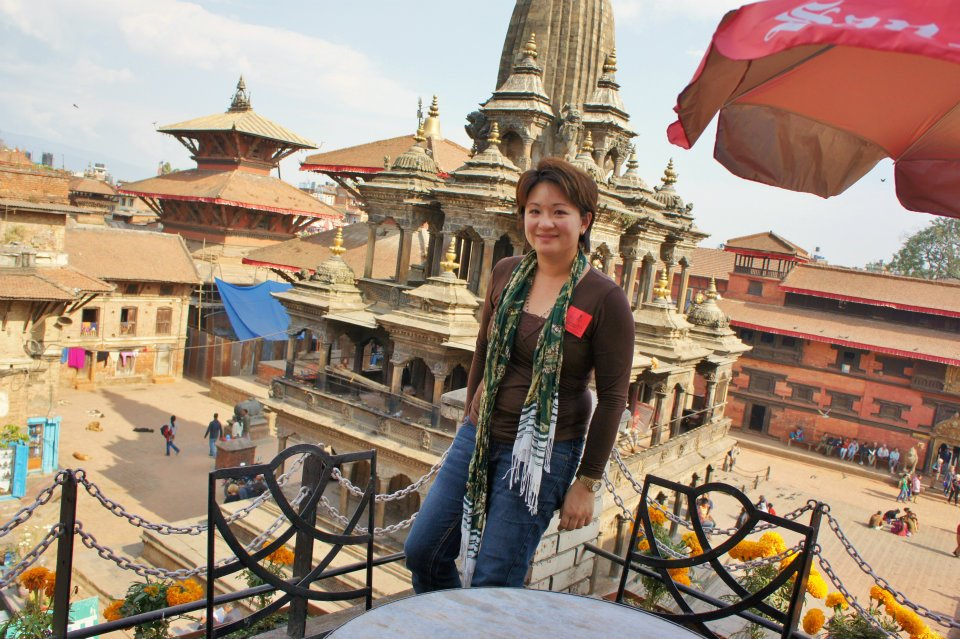 Overlooking Patan Durbar Square in 2011.
