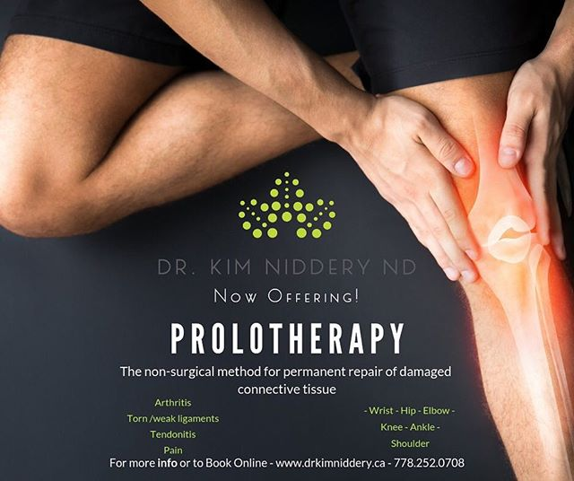 🏃🏽‍♂️Do you suffer from pain due to past torn or lax ligaments? Do you repeatedly injure yourself because of past injuries (ie roll your ankles) left your more susceptible to re-injury? Prolotherapy might be for you! . 🥇Prolotherapy stems from the word Proliferative Therapy and is a form of regenerative therapy (non-surgical) that is a permanent solution to repair damaged connective tissue. It requires a series of injections into the joint or tissue.  It can be utilized in both acute and chronic conditions. . ⛷It is a superior treatment in the management of chronic pain and getting people back to their active lifestyle. . 🏋🏽‍♀️You can benefit from prolotherapy if you have any torn or weak ligaments, history of injury that has left you with loose or lax ligaments, and chronic pain from damaged tissues. . 🚵‍♂️Visit www.drkimniddery.ca (link in bio) for more information, to book your prolo appointment, or to book a FREE Meet & Greet to discuss. . #naturopathicmedicine #healthandwellness #revelstoke #therealstoke #kootenaylife #regenerativetherapy #prolotherapy #painmanagement