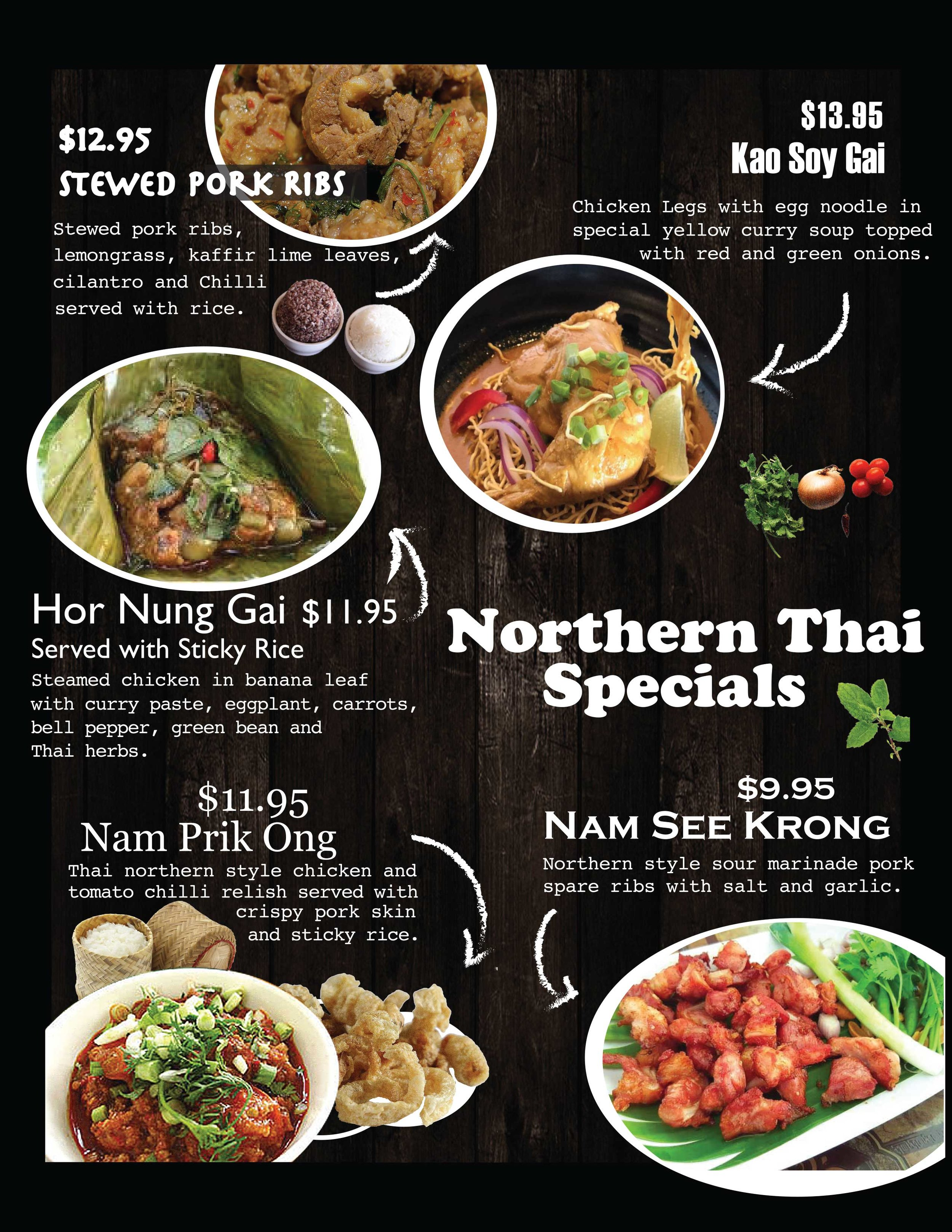 Northern Thai Specials -