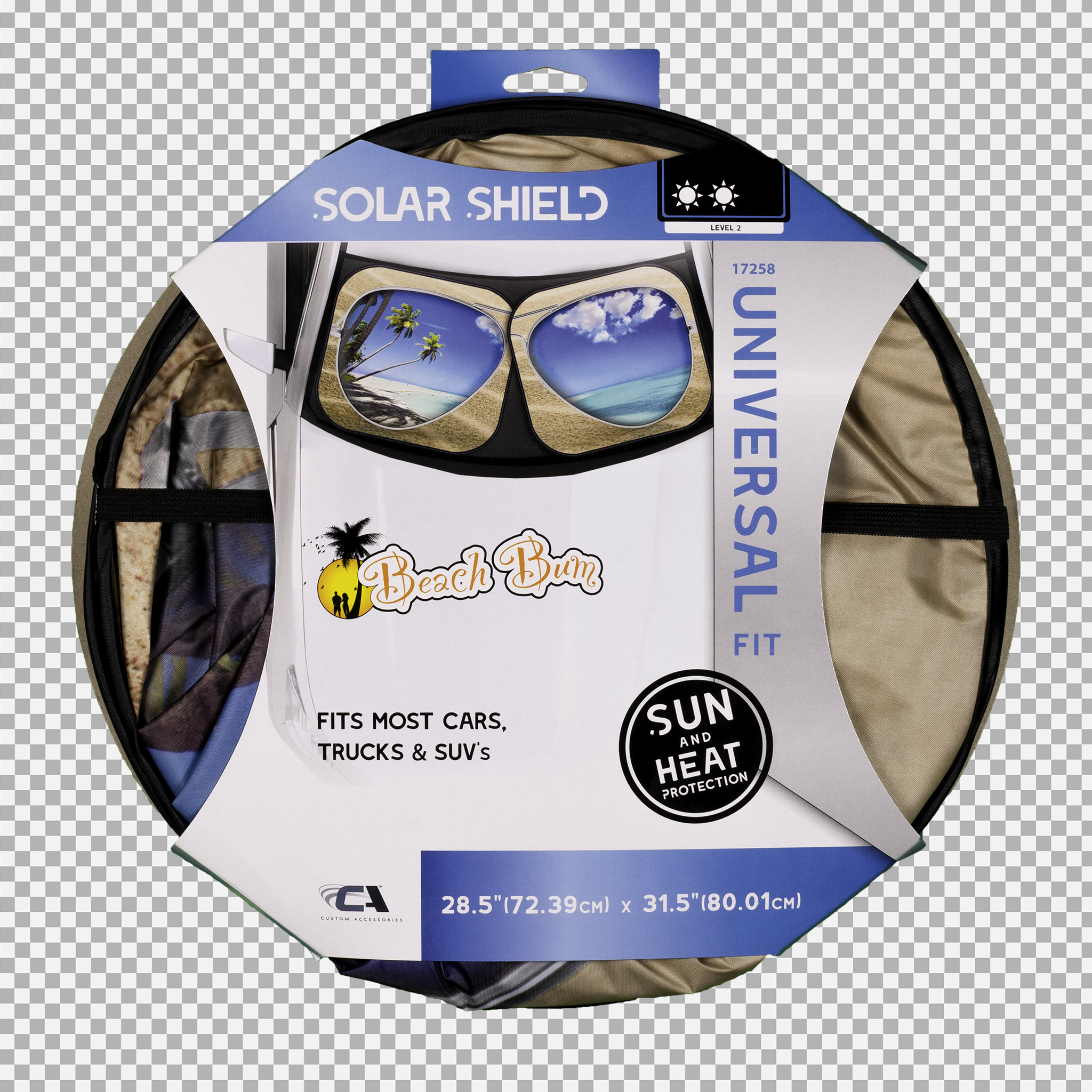 Beach Bum Solar Shield - Pair Packaging Front (Transparent Background)
