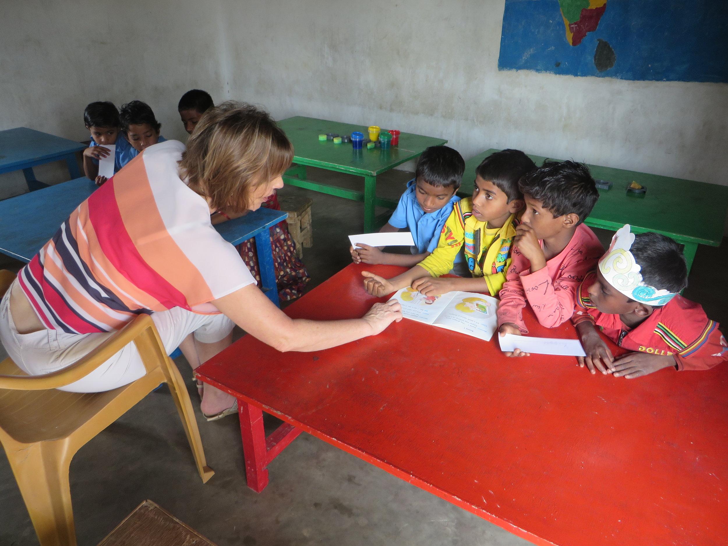 Working in school to hep improve English