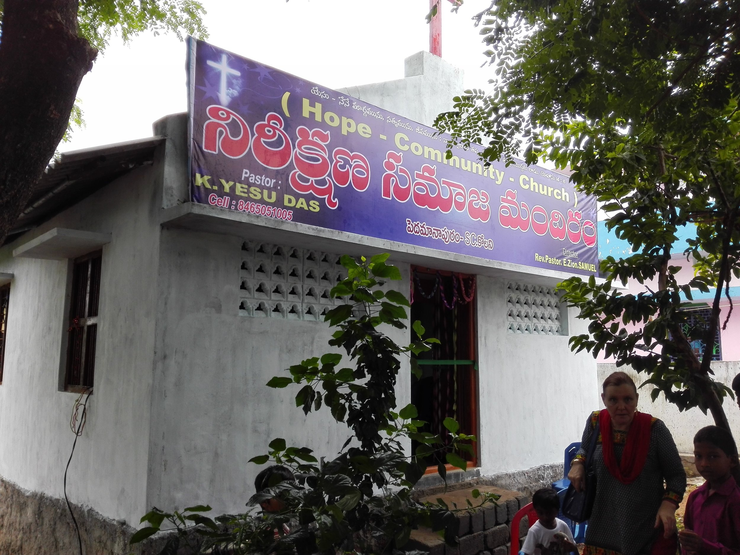 Church build in a rural village by supporters of the ministry