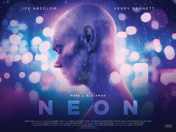 The official  NEON  poster featuring lead cast member Joe Absolom. Designed by Dan Anscombe (see his work  here ).