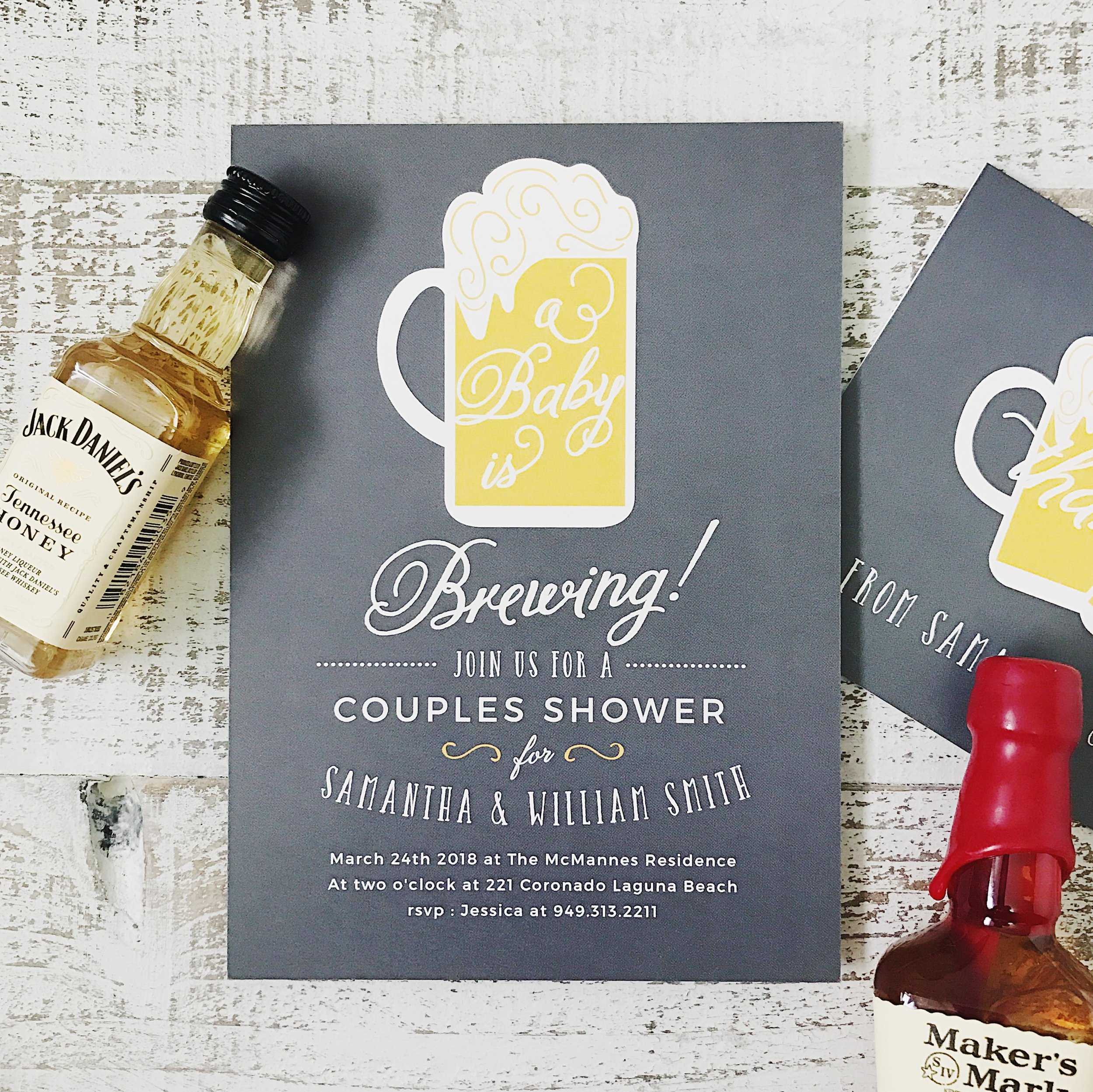 This co-ed shower invite was made for the coolest parents-to-be, am I right?! And there are more cute options: baby shower invitations coed !