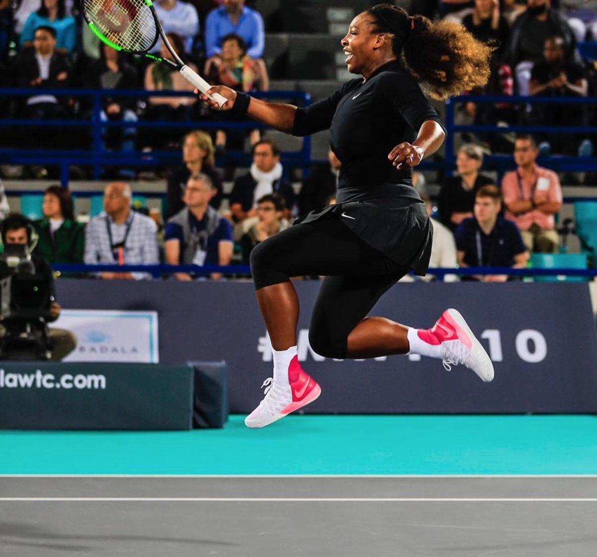 Serena at MWTC. Posted by  @Serena Williams  on December 20, 2018.