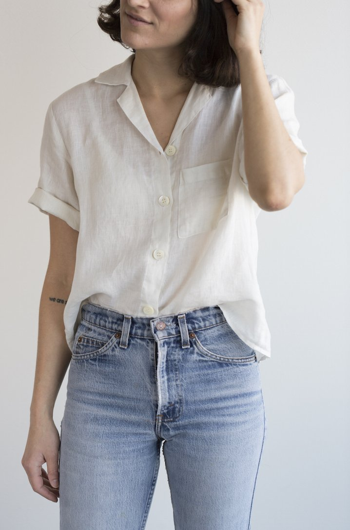 Short Sleeve shirt in Natural by Rachael Harrah