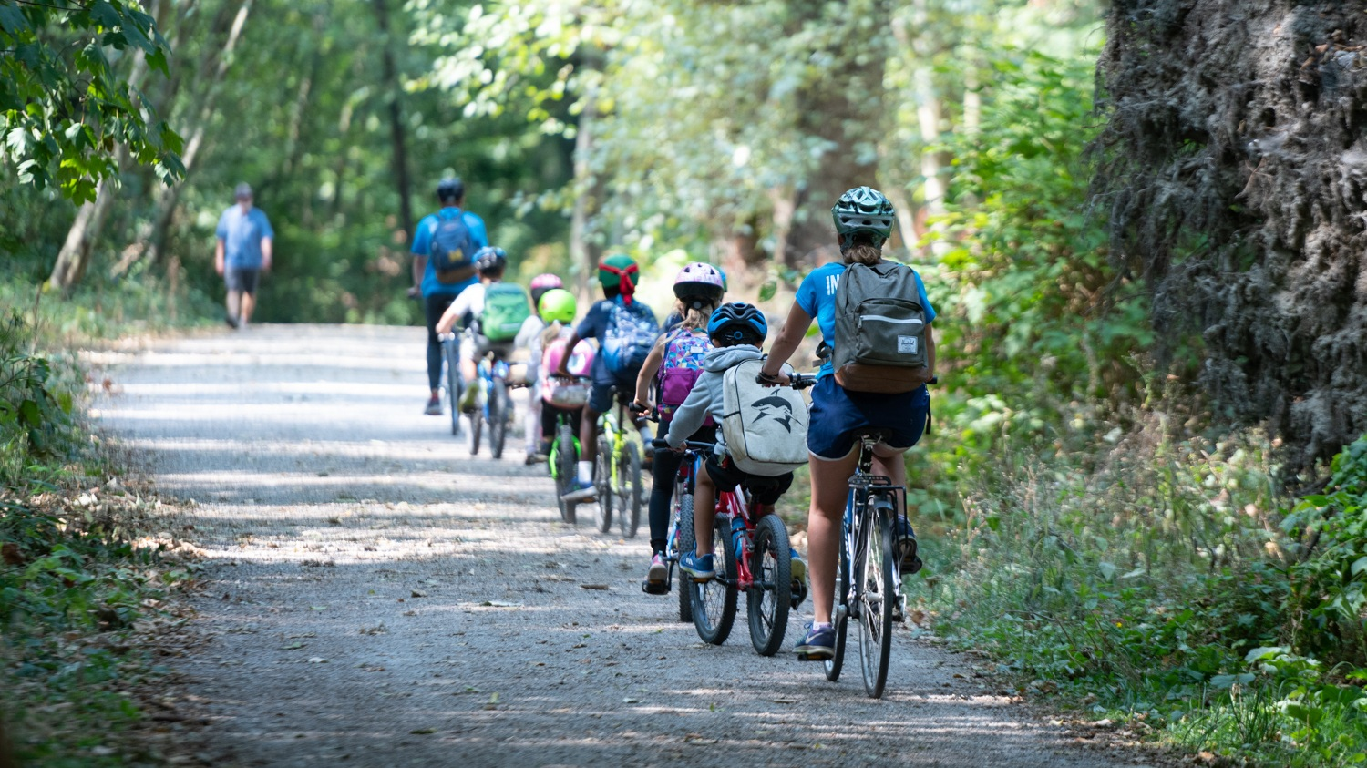 Pedalheads camps offer adventurous trail rides for more experienced little bike riders, as pictures here.