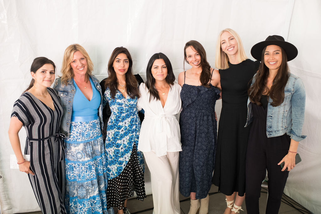 Pictured (L to R):  Candice Valdez ,  Sarah Hines ,  Dr. Deepika Chopra ,  Elin Abad ,  Kelly LeVeque ,  Marcy Crouch , and  Liz Arch . Photo Credit:  Elaine Lee Photography