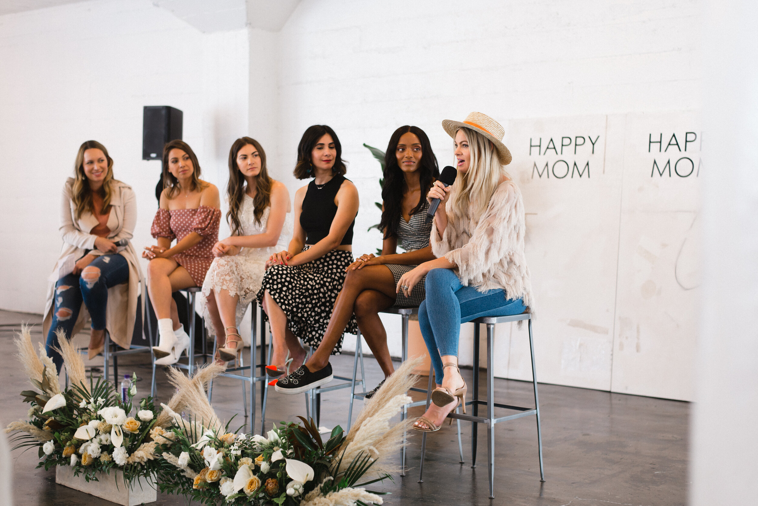 Caitlin Crosby of the Giving Keys speaking at Happy Mom Conference Year One (2018)
