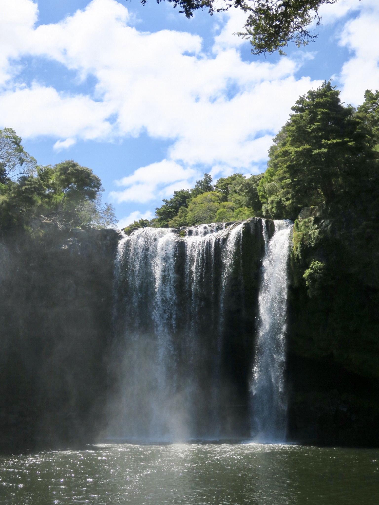 Rainbow falls, pretty tropical