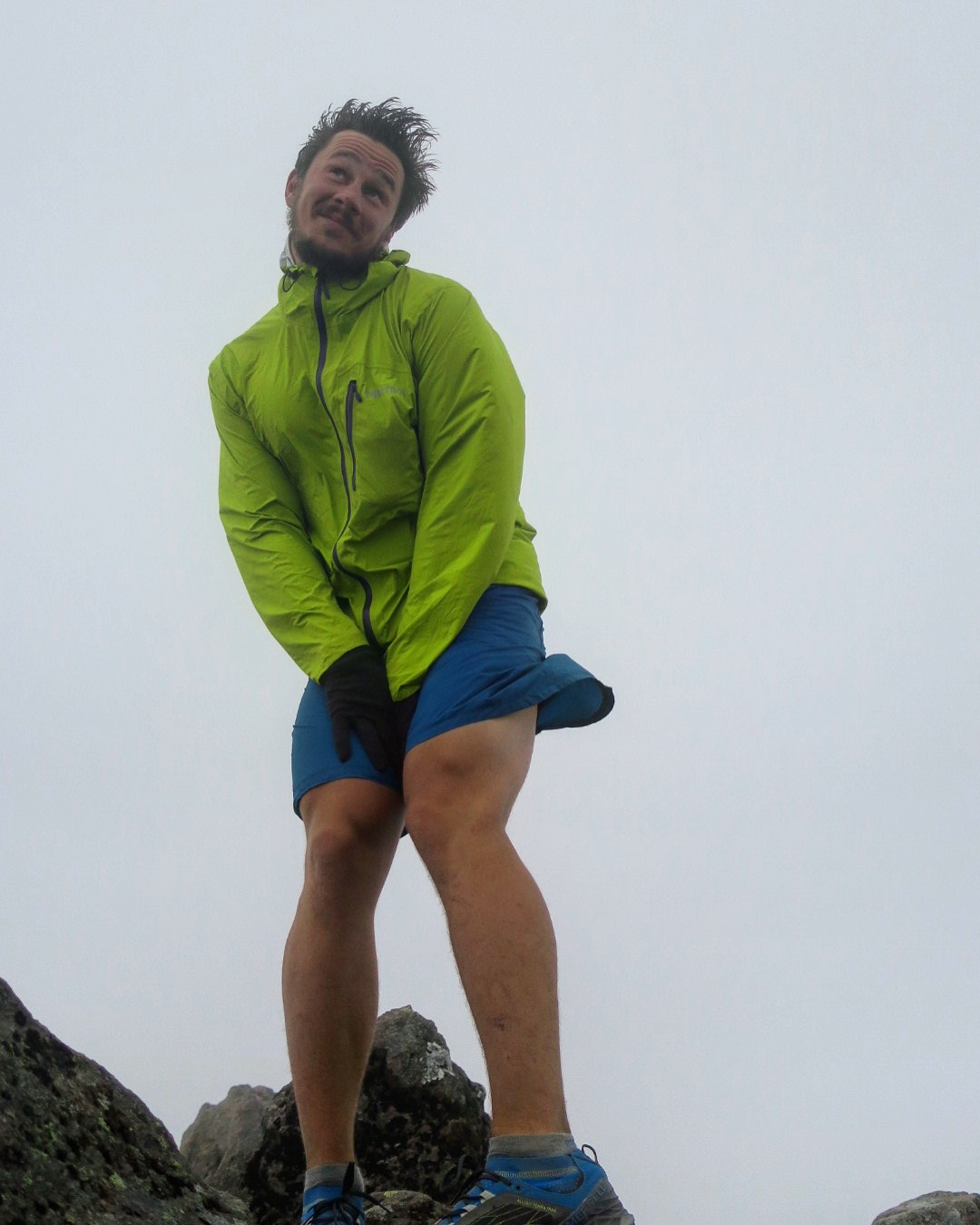 Magnus Monroe at the top of Mt Tongariro