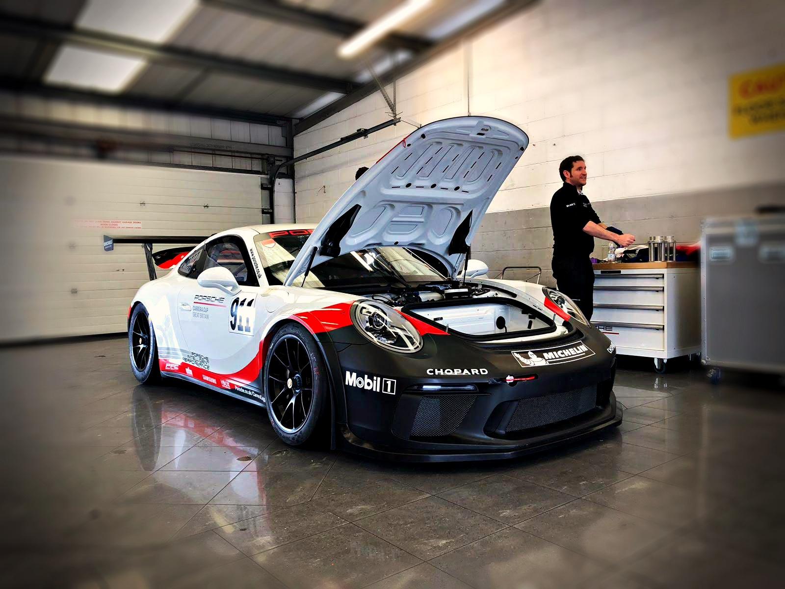 Chris Harris Porsche GB Cup car