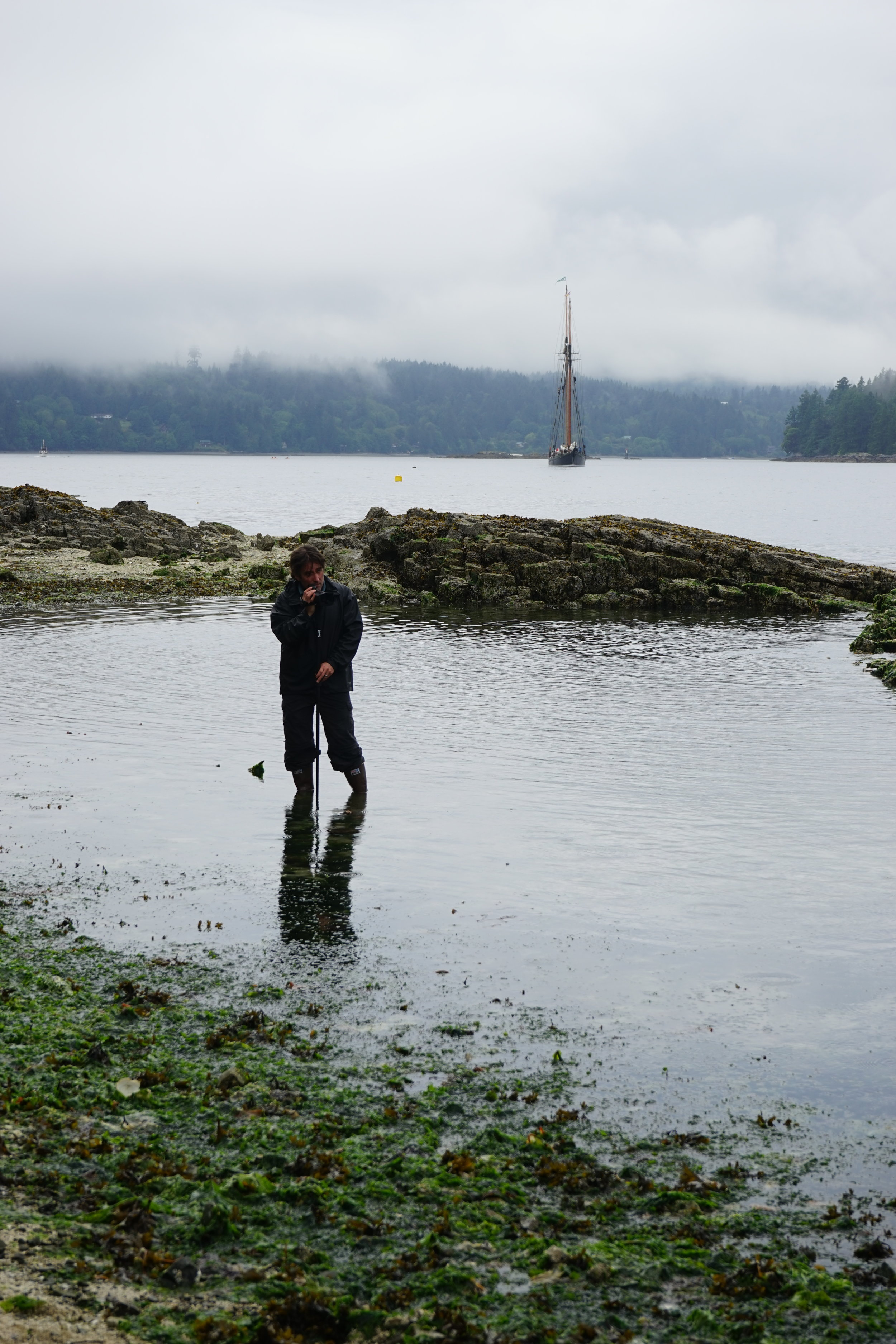 Coastal Routes Director, Phil Loring, Filming at Russell Island.